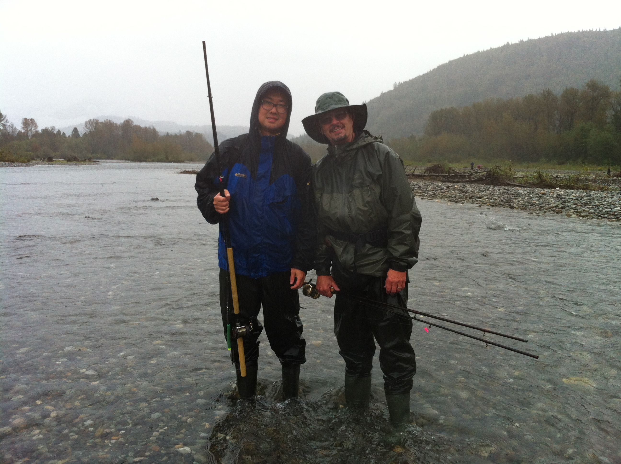 Brian & Dan on the Chilliwack River