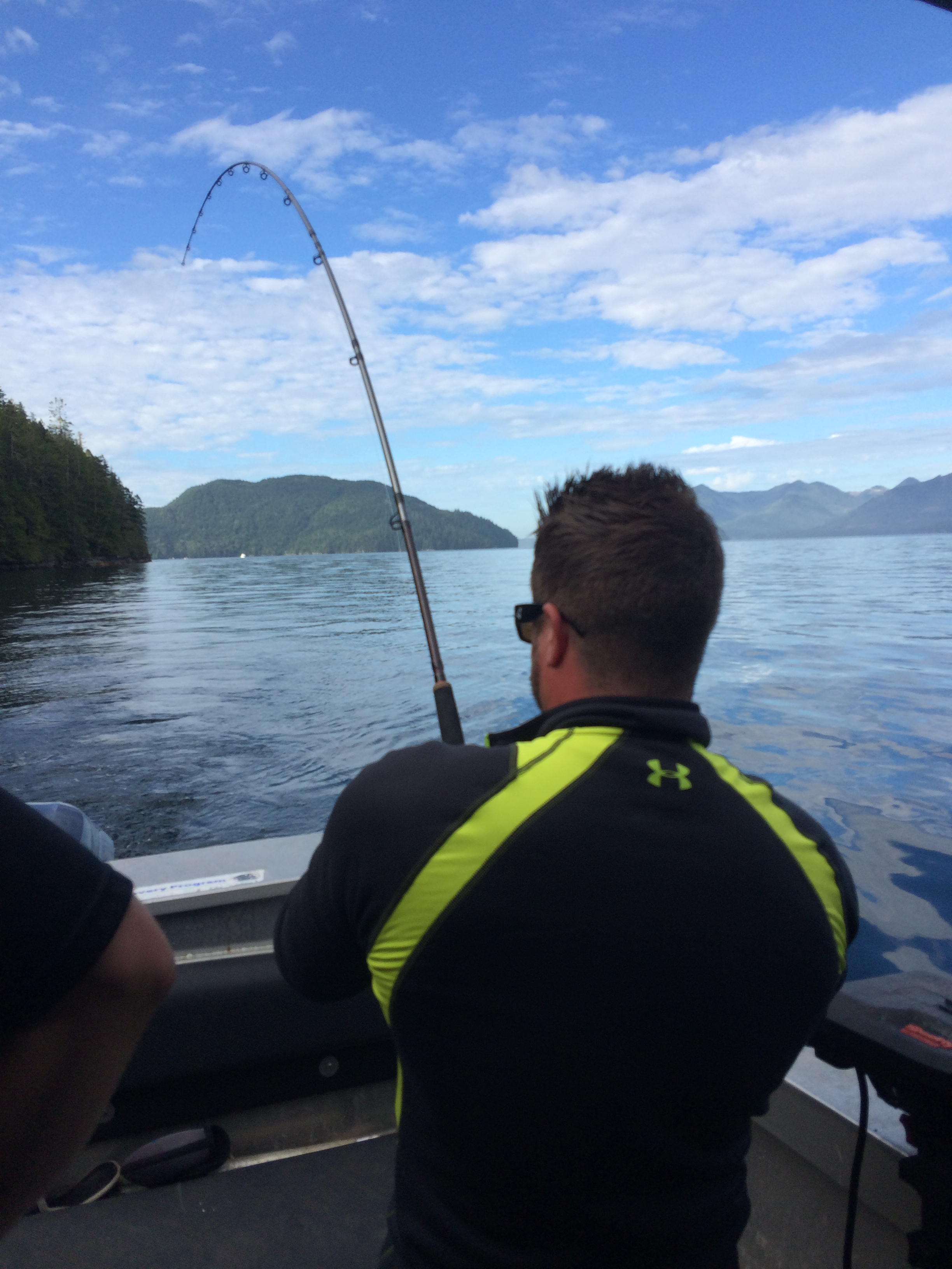 Cody Fishing Nootka Sound