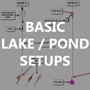 Basic Lake and Pond Fishing Setups